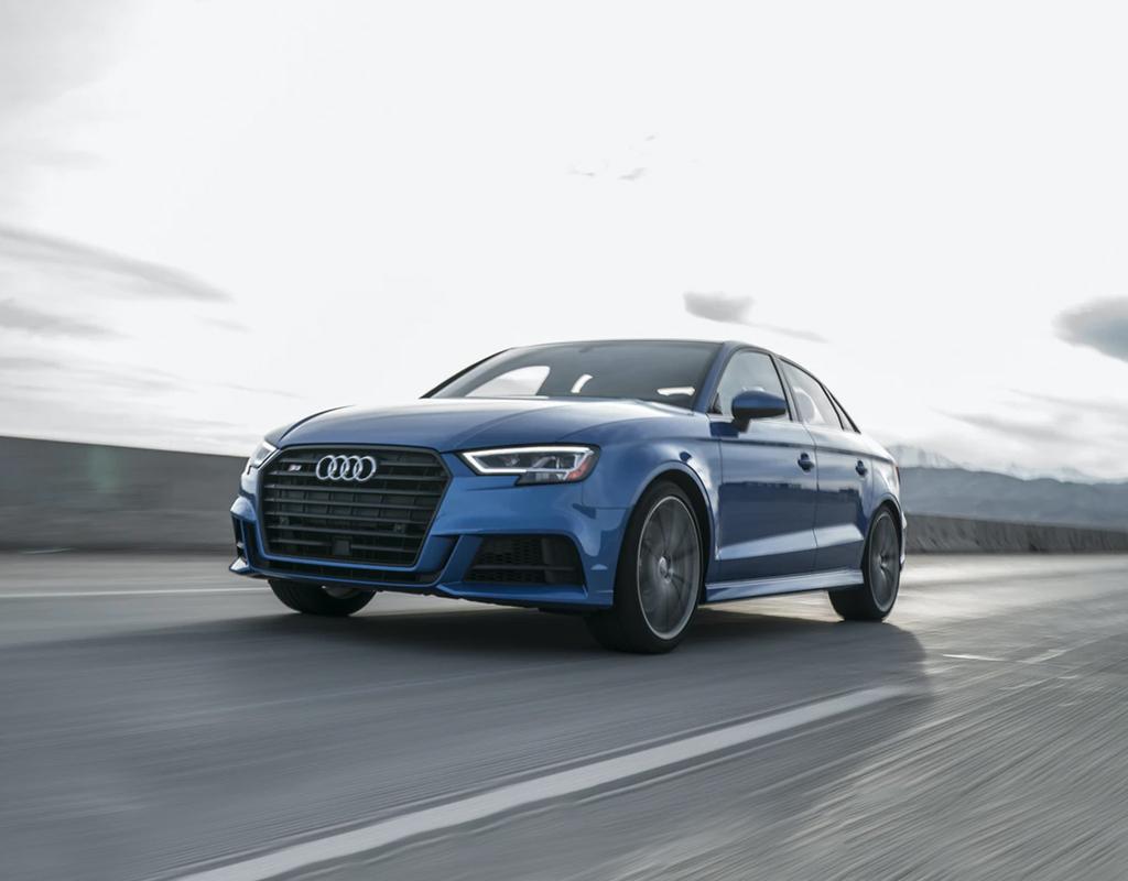 Audi A4 4-door sedan blue
